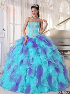 Appliques Strapless Long Sweet Sixteen Quinceanera Dresses