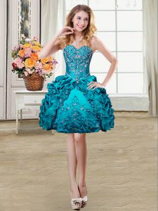 Admirable Sleeveless Lace Up Mini Length Beading and Embroidery and Pick Ups Club Wear