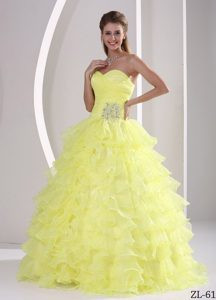 Ruffles Sweetheart Appliqued Ruching Sassy Quinceanera Dresses