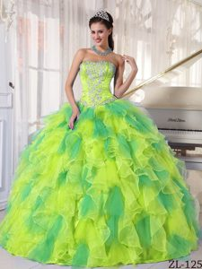 2015 Cute Strapless Quinceanera Dress with Appliques on Sale