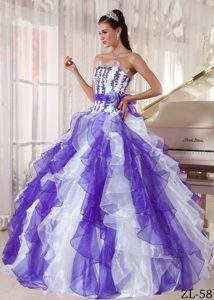2015 Angel Colorful Strapless Sweet Sixteen Dresses with Beading