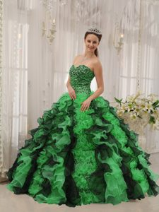 Multi-colored Perfect Sweet Sixteen Quince Dresses with Beading