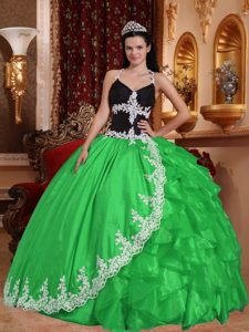 Newest V-neck Quinceanera Dresses and in Spring Green