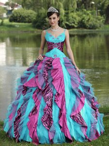 Special Beaded Colorful Quinceanera Dress for Girls on Promotion
