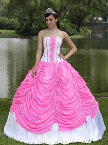 Beautiful Strapless 2015 Quinceanera Dress with Pick-up and Ruches on Sale