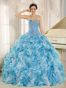 Beaded Sweet Sixteen Quinceanera Dress with Ruffled Layers on Promotion
