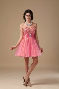 Wholesale Sweetheart Watermelon Short Junior Prom Dresses with Beading