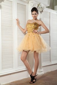 Classical Sweetheart Mini-length Prom Cocktail Dress with Sequins
