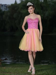Beautiful Sweetheart Beaded Prom Cocktail Dress on Wholesale Price