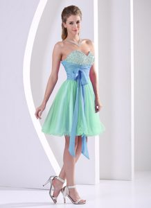 bd1bffa5e21 Exquisite Sweetheart Beaded Multi-color Prom Celebrity Dresses with Sash
