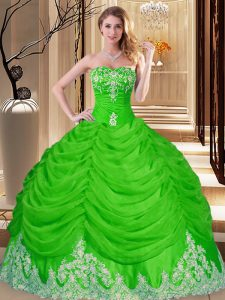Sweetheart Lace Up Lace and Appliques 15th Birthday Dress Sleeveless